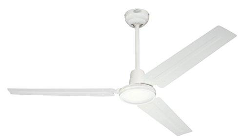 Westinghouse Ceiling Fans Industrial Ventilador de Techo, Acabado en blanco con aspas blancas, 142 cm