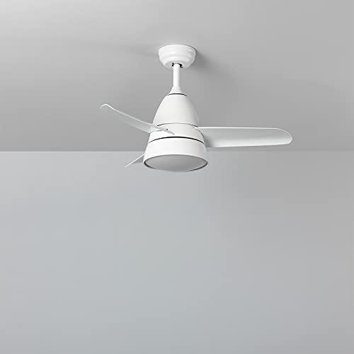 TECHBREY Ventilador de Techo Industrial Blanco LED CCT Seleccionable Seleccionable (Cálido-Neutro-Frío)