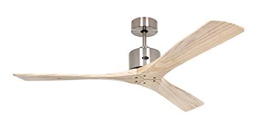 Casafan Ventilador de Techo 313266 Macau 132 BN-Nt Madera Natural/Cromo Cepillado