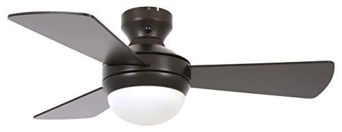 Lucci air - Ventilador de techo Airlie Hugger con mando a distancia, alas reversibles y 2 opciones de instalación...