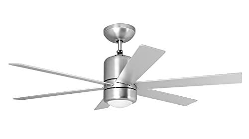 Orbegozo CP 50120 - Ventilador de techo con luz y mando a distancia, 6 aspas, 120 cm de diámetro, potencia de 65 W, 3...