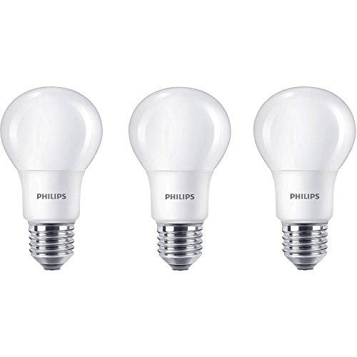 Philips 929001234381 - Bombilla LED estándar, casquillo E27, consume 8 W, equivalente a 60 W, no regulable, luz blanca...