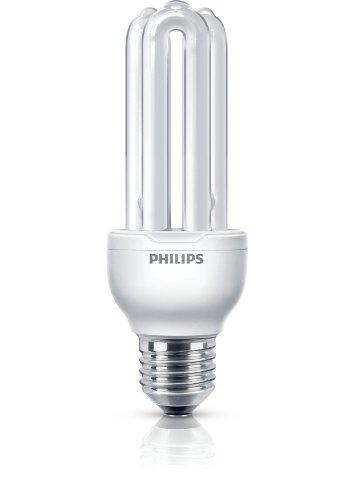 Philips Economy - Bombilla de tubo de bajo consumo (18 W, E27, De U, A, 6000 h, 1100 lm), blanco cálido