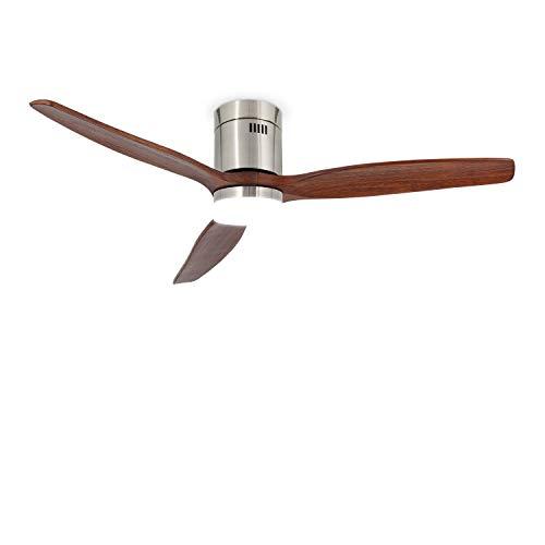 IKOHS Create WINDCALM DC STYLANCE Nickel - Ventilador de Techo 40W DC Reverse con Luz