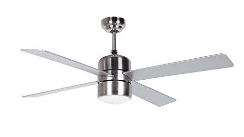 Orbegozo CP 72120 Ventilador de techo con luz y mando a distancia, 4 palas, 105 cm de diámetro, potencia de 60 W y 3...
