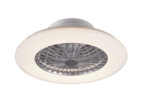 Plafon ventilador TRIFAN con tegnologia led regulable integrada color titan, AkunaDecor.
