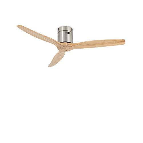 IKOHS AIRCALM DC - Ventilador de Techo con Mando, Bajo Consumo, Silencioso, Potente, 3 Aspas, 132 cm de Diámetro, 6...