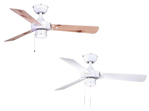 AireRyder Cyrus Deckenventilador, 55 W, Blanco, 107 x 107 x 39 cm