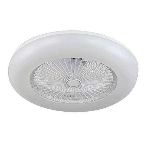 ACTiO LED 770011-ABL lámpara ventilador de techo luz led IKARO blanco mando distancia, regulable intensidad, 3...