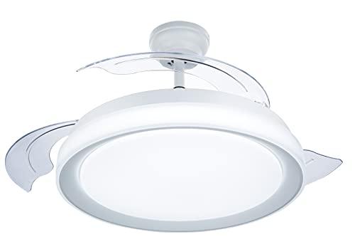 Philips Lighting Bliss - Ventilador de techo con luz LED y mando, 80W, luz blanca de cálida a fría (3000-5500K),...