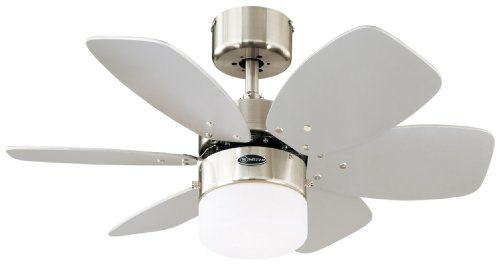 Westinghouse Lighting 78788 - Ventilador de techo para interior Flora Royale One-Light de 76 cm Six, vidrio esmerilado...