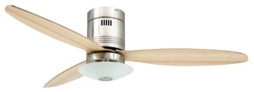 AireRyder FN73335 Aero ventilador de techo con luz y mandoa distancia, 132 cm, para habitaciones de hasta 25m²