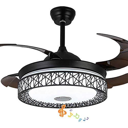 JYKJ 42 Pulgadas Moderno Y Elegante Ventilador De Techo con Altavoces Bluetooth Luz De La Lámpara Equipo De...