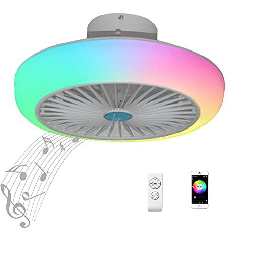 Lampara Ventilador Techo con Luz Silencioso Mando a Distancia Infantil Inspire Colores Plafon LED Ventilador de Techo...
