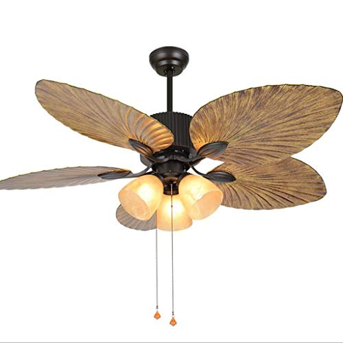 Ventiladores para el techo con lámpara Ventilador de techo de interior con luz y del retro cadena Oficina de Control de...