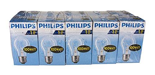 Philips Bombilla E27, 70 W, claro, 100 Watt, 10