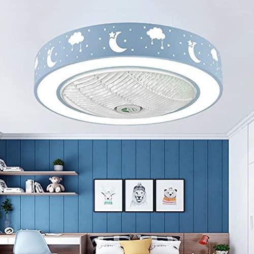 LED Invisible Ventilador De Techo Con Luz Y Mando A Distancia, Lámpara De Techo Con Iluminación Moderna Silenciosa...