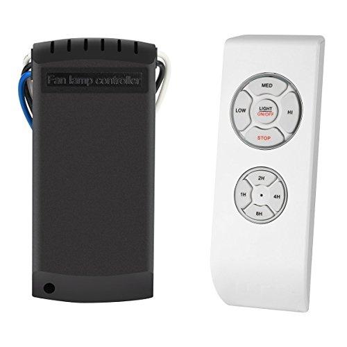 MKISHINE SAGESSE Control Remoto para Ventilador de Techo Controlador de lámpara de Ventilador,Kit de Control Remoto...