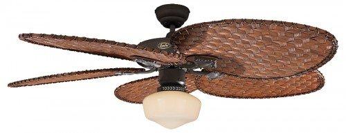 Ventilador de techo Classic Royal 132cm marrón antiguo Incluye alas de ratán Antiguo y lámpara con cordón