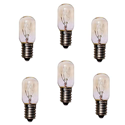 JINYU 6pcs Bombillas de sal de repuesto del Himalaya de 15 W, bombillas T20 E14 (paquete de 6), bombillas T20 de 220 V,...