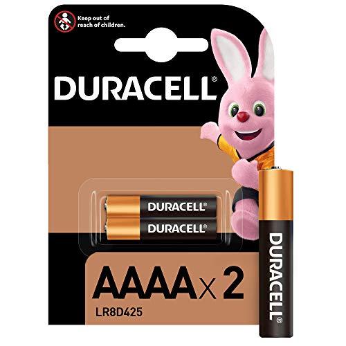 Duracell - Pilas especiales alcalinas AAAA de 1,5V, paquete de 2 unidades (LR8D425) diseñadas para lápices...
