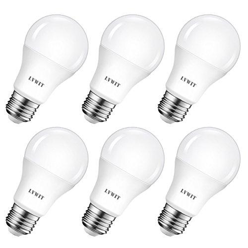 LVWIT Bombillas LED A60, Casquillo E27, 8.5W equivalente a 60W, 6500K Luz Blanca Fría, 806 lm, Bajo consumo, No...