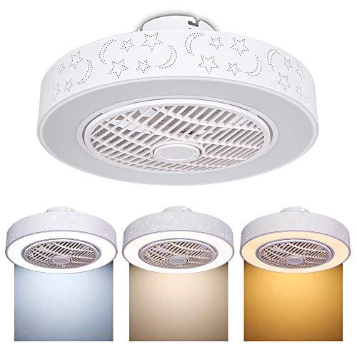 Plafón ventilador de techo LED, regulable, con mando a distancia, creativo, moderno, iluminación decorativa,para...