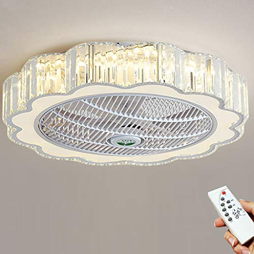 LED Lámpara Ventilador De Techo Con Iluminación Ventilador Con Luz Regulable Luz De Techo Control Remoto Ultra...