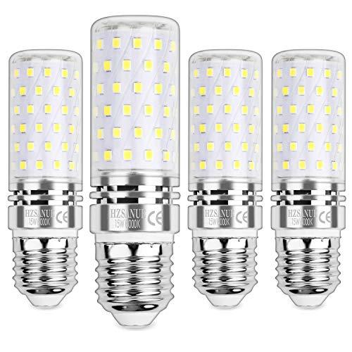 HZSANUE Bombillas Maíz LED 15W, E27 Tornillo Edison Bombilla, 6000K Blanco Frío, 1500LM, Bombillas Incandescentes de...