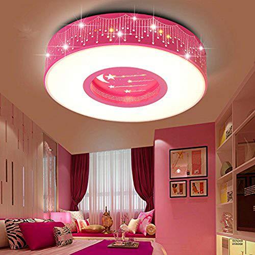 LYXG A la luz de la Sala de Niños Niñas dormitorio luz LED Luz Lámpara de techo princesa estrellas cálidas...