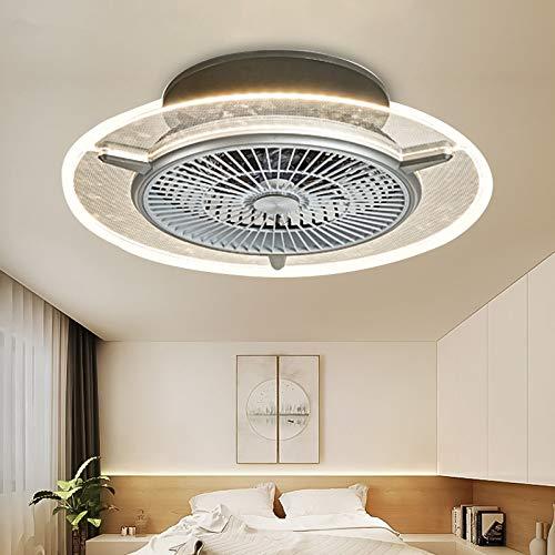 Ventilador de techo LED, lámpara invisible, lámpara de ventilador para dormitorio, restaurante, salón, moderno,...