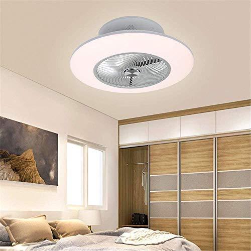 Ventilador de Techo con Luz Dormitorio Ventiladores de Techo con Altavoz Bluetooth Música, LED 96W Iluminación de...