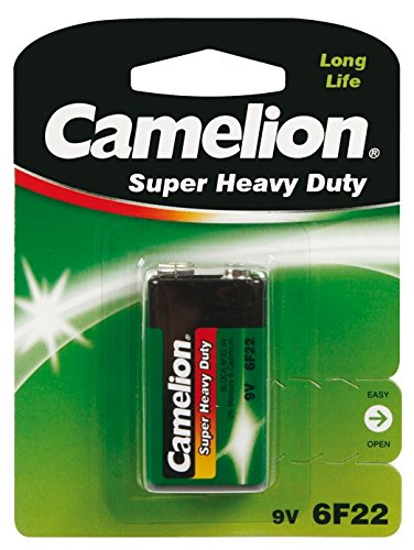 Camelion 6F22-BP1G Single-Use Battery 9V Zinc-Carbono 9 V - Pilas (Single-Use Battery, 9V, Zinc-Carbono, Petaca, 9 V, 1...