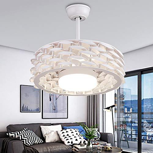 Ceiling Fan - Lámpara para ventilador de techo de 22 pulgadas, sin aspas, con lámpara LED de atenuación y máquina de...
