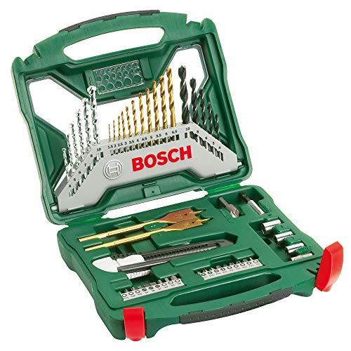 Bosch Maletín X-Line con 50 unidades para taladrar y atornillar (para madera, piedra y metal, accesorios para taladro...