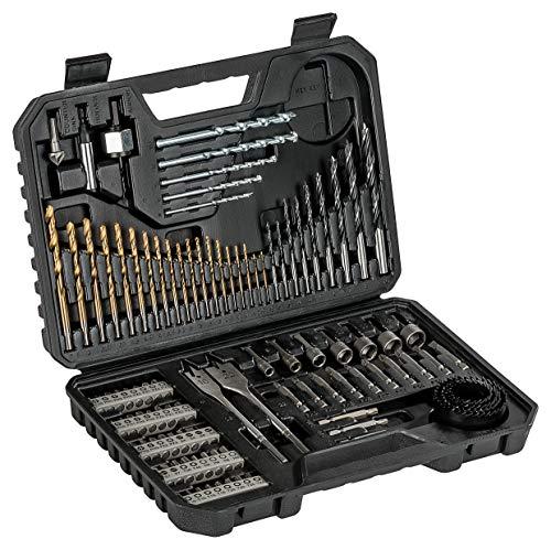 Bosch Set de brocas y puntas de atornillar de 103 unidades Titanium, madera, piedra y metal, accesorios para...