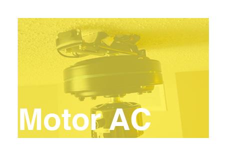 Ventilador de techo con motor ac de corriente alterna
