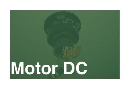 ventilador de techo con motor DC con corriente continua