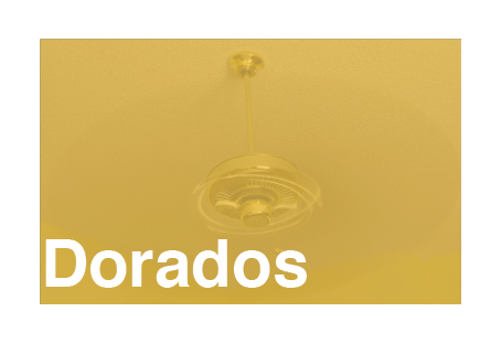 Tipos de ventiladores de techo dorados