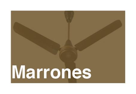 Ventiladores de techo de color marrón