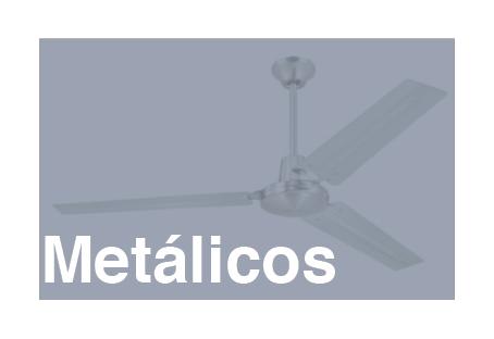 tipos de ventiladores de techo metálicos