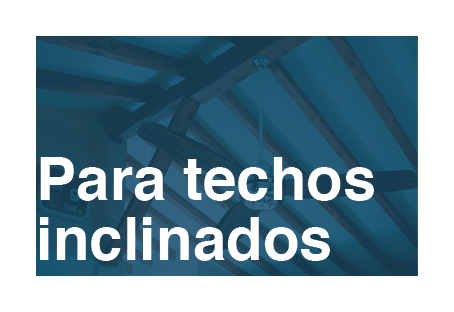 ventiladores para techos inclinados