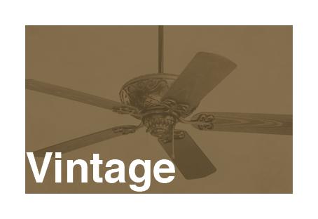 ventiladores de techo vintage y retro