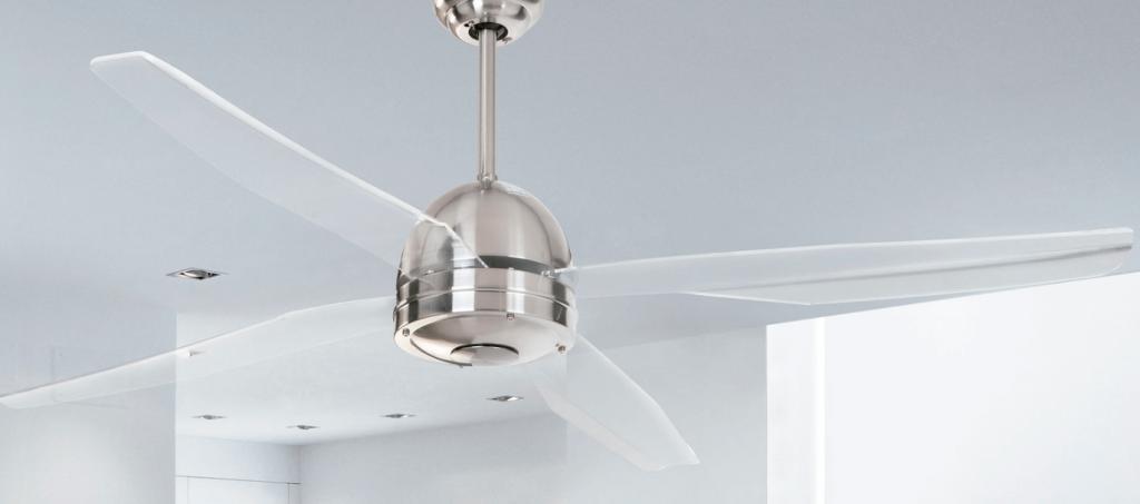 ventilador de techo transparente