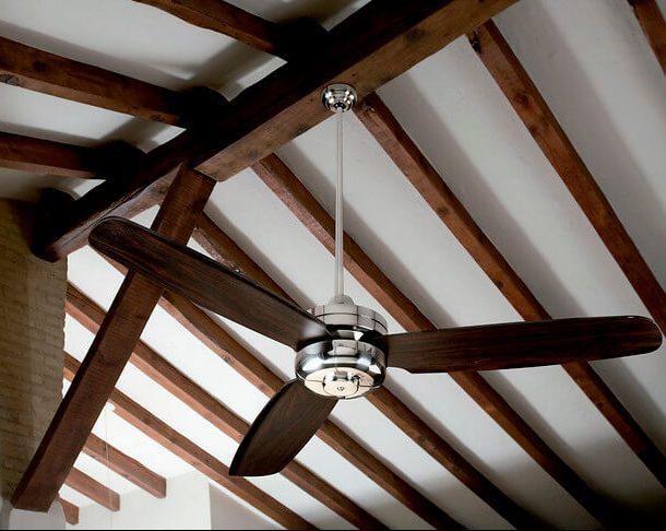 ventiladores para techos inclinados