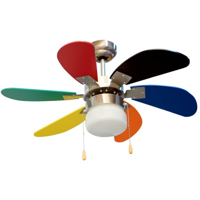 ventilador de techo infantil de colores