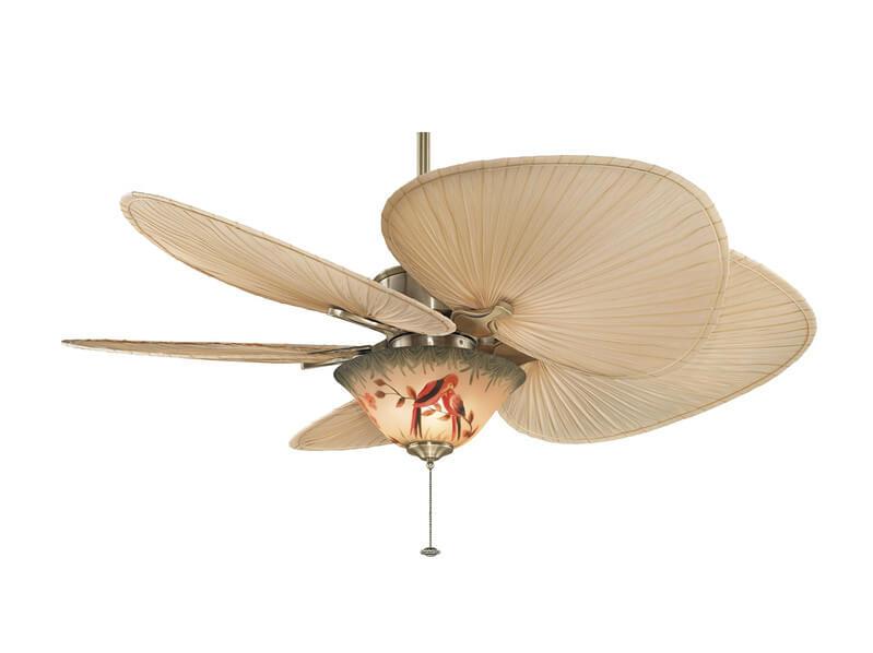 ventiladores de techo con aspas en forma de hoja