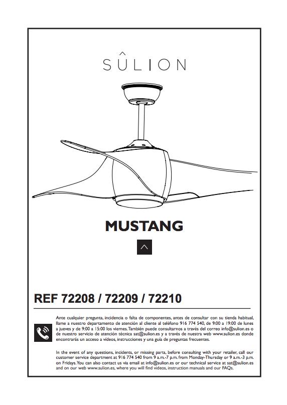 instalar ventilador de techo mustang