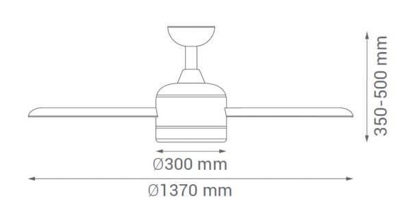 medidas ventilador de techo sûlion fiera