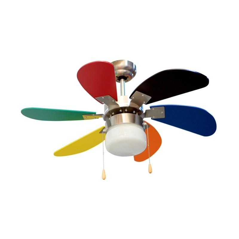 ventiladores de techo de colores